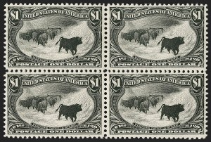 Sale Number 1235, Lot Number 1229, 1898 Trans-Mississippi Issue (Scott 285-293)$1.00 Trans-Mississippi (292), $1.00 Trans-Mississippi (292)