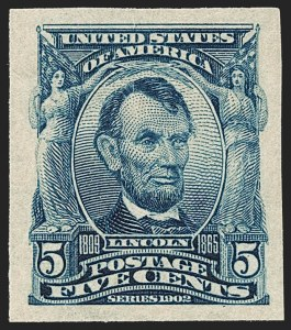 Sale Number 1235, Lot Number 1259, 1902-08 Issues (Scott 300-320)5c Blue, Imperforate (315), 5c Blue, Imperforate (315)