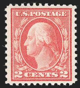 Sale Number 1235, Lot Number 1340, 1912-17 Washington-Franklin Issue (Scott 405-480)2c Pale Carmine Red, Ty. I (461), 2c Pale Carmine Red, Ty. I (461)