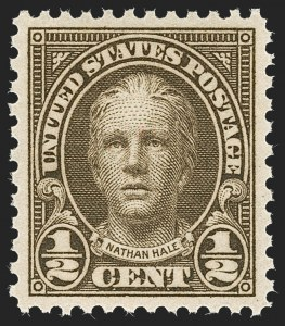 Sale Number 1235, Lot Number 1416, 1925 and Later Issues (Scott 647-2419b)-1/2c Olive Brown (653), -1/2c Olive Brown (653)