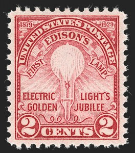 Sale Number 1235, Lot Number 1417, 1925 and Later Issues (Scott 647-2419b)2c Edison, Rotary (655), 2c Edison, Rotary (655)