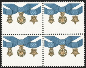 Sale Number 1235, Lot Number 1430, 1925 and Later Issues (Scott 647-2419b)20c Medal of Honor, Red Omitted, 20c Medal of Honor, Red Omitted