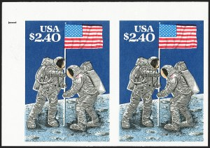 Sale Number 1235, Lot Number 1431, 1925 and Later Issues (Scott 647-2419b)$2.40 Moon Landing, Imperforate Pair (2419b), $2.40 Moon Landing, Imperforate Pair (2419b)