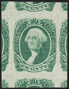 Sale Number 1235, Lot Number 1561, Eagle Carrier, Postal Stationery, Hunting Permits, Confederate States20c Green (13), 20c Green (13)