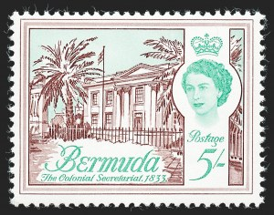Sale Number 1236, Lot Number 2168, Bermuda Modern IssuesBERMUDA, 1970, 60c on 5sh Brown Purple and Blue Green, Surcharge Omitted (252a; SG 246a), BERMUDA, 1970, 60c on 5sh Brown Purple and Blue Green, Surcharge Omitted (252a; SG 246a)