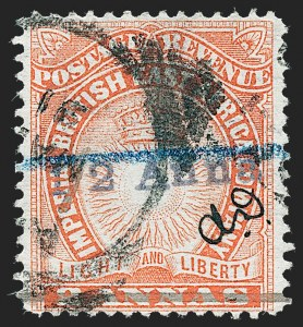 "Sale Number 1236, Lot Number 2179, British Central Africa thru British East AfricaBRITISH EAST AFRICA, 1891, -1/2a on 2a Vermilion, Manuscript ""A.D."" (31; SG 20), BRITISH EAST AFRICA, 1891, -1/2a on 2a Vermilion, Manuscript ""A.D."" (31; SG 20)"