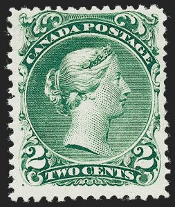 Sale Number 1236, Lot Number 2259, Canada - 1851 Pence Issues thru Small QueensCANADA, 1868, 2c Green, Watermarked (Bothwell) (24a; SG 57da), CANADA, 1868, 2c Green, Watermarked (Bothwell) (24a; SG 57da)