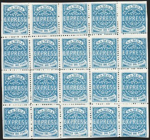 Sale Number 1236, Lot Number 2478, St. Kitts-Nevis thru SamoaSAMOA, 1879-82, 1p Blue, Third State, Perf 11-3/4 (1; SG 15), SAMOA, 1879-82, 1p Blue, Third State, Perf 11-3/4 (1; SG 15)