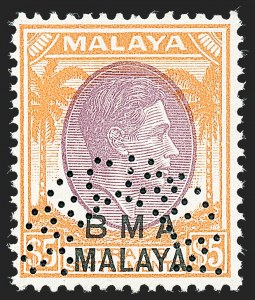 "Sale Number 1236, Lot Number 2505, Seychelles thru Straits SettlementsSTRAITS SETTLEMENTS, 1945-48, 1c-$5.00 ""B.M.A. Malaya"" Overprints, Perforated ""Specimen"" (256S-271S; SG 1as-18s), STRAITS SETTLEMENTS, 1945-48, 1c-$5.00 ""B.M.A. Malaya"" Overprints, Perforated ""Specimen"" (256S-271S; SG 1as-18s)"