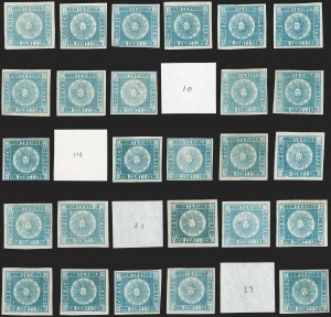 Sale Number 1236, Lot Number 2826, Uruguay 1858 First Issue - 120c and 180cURUGUAY, 1858, 120c Blue (4), URUGUAY, 1858, 120c Blue (4)