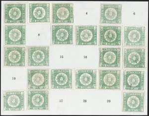 Sale Number 1236, Lot Number 2865, Uruguay 1858 First Issue - 120c and 180cURUGUAY, 1858, 180c Green, Thick Paper (5c), URUGUAY, 1858, 180c Green, Thick Paper (5c)