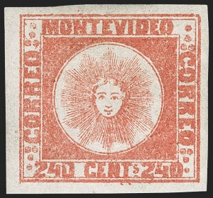 Sale Number 1236, Lot Number 2877, Uruguay 1858 First Issue - 240c and Sperati ReproductionsURUGUAY, 1858, 240c Dull Vermilion (6), URUGUAY, 1858, 240c Dull Vermilion (6)