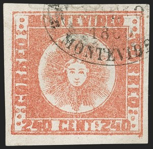 Sale Number 1236, Lot Number 2879, Uruguay 1858 First Issue - 240c and Sperati ReproductionsURUGUAY, 1858, 240c Dull Vermilion (6), URUGUAY, 1858, 240c Dull Vermilion (6)