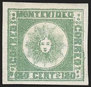 Sale Number 1236, Lot Number 2899, Uruguay 1858 First Issue - 240c and Sperati ReproductionsURUGUAY, 1858, 180c Green, Sperati Reproduction (5 Sperati), URUGUAY, 1858, 180c Green, Sperati Reproduction (5 Sperati)
