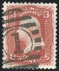 3c Brown Red, Re-Issue, Used, (Scott 104)