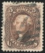 5c Brown, Re-Issue, Used, (Scott 105)