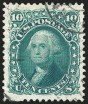 10c Green, Re-Issue, Used, (Scott 106)