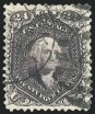 24c Deep Violet, Re-Issue, Used, (Scott 109)