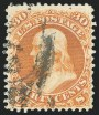 30c Brownish Orange, Re-Issue, Used, (Scott 110)