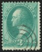 3c Green, Double Impression, (Scott 147b)