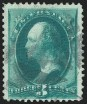 3c Green, Double Impression, (Scott 158j)
