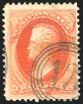 2c Vermilion, Double Impression, (Scott 183a)