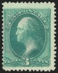 3c Green, Double Impression, (Scott 184b)