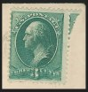 3c Blue Green, Double Impression, (Scott 207c)