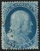 1c Blue, Type III, Position 99R2, (Scott 21)