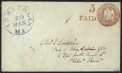 Annapolis, Md., 5c Carmine Red on White, Postmaster's Provisional, (Scott 2XU1)
