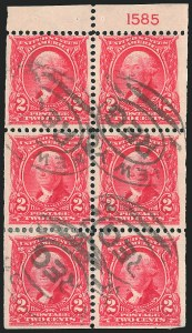 2c Carmine, Booklet, Used, (Scott 301c)