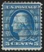 5c Blue on Bluish, Used, (Scott 361)