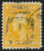 10c Yellow on Bluish, Used, (Scott 364)