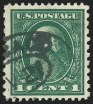 1c Green, Perf 12 x 10, (formerly Scott 424a), (Scott 423A)