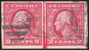 2c Carmine, Ty. I, Imperforate Coil, (Scott 459)