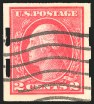 2c Deep Rose, Type Ia, Imperforate, Schermack Ty. III Private Perf, (Scott 482A)