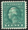 1c Green, Double Impression, (Scott 498d)