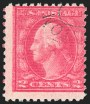 2c Rose, Ty. II, Double Impression, (Scott 499g)