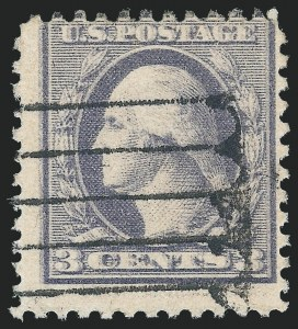3c Ty. III, Offset Issue, Double Impression, (Scott 529a)
