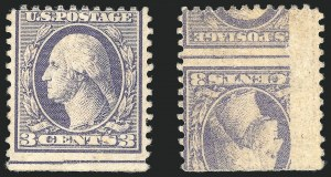3c Ty. III, Offset Issue, Printed on Both Sides, (Scott 529b)