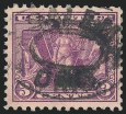3c Deep Violet, Victory Issue, Used, (Scott 537a)