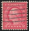 2c Carmine Rose, Ty. II, Perf 11 x 10, Used, (Scott 539)