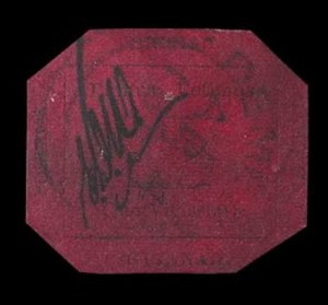 British Guiana, 1856, 1c Black on Magenta, (Scott 13; SG 23)