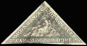 Cape of Good Hope, 1855-58, 4p Black, (Footnoted)