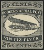 1911, 25c Black, Rodgers Vin Fiz, Semi-Official Air Post, (Scott CL2)