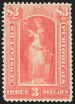 $3 Scarlet, 1894 Unwatermarked Issue, (Scott PR100)