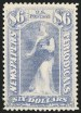 $6 Pale Blue, 1894 Unwatermarked Issue, (Scott PR101)
