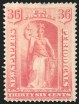 36c Pink, 1894 Unwatermarked Issue, (Scott PR97)