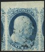 1c Blue, Type I, Scott 5