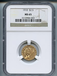 Indian Gold, $3, 1910 - , 7941, Obverse
